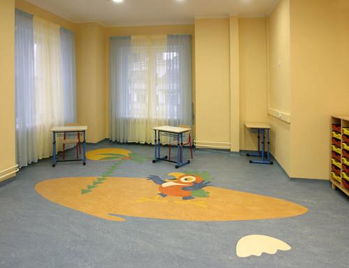 Комерційний лінолеум в дитячих установах